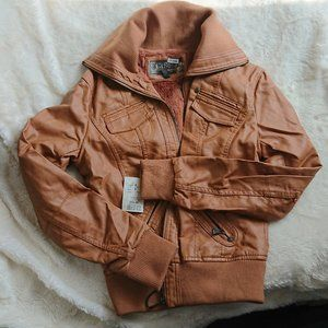 Tan colored jacket. SM, Winners Brand